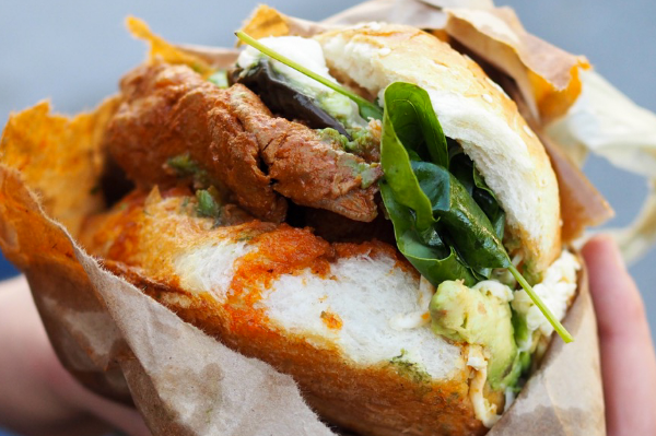 Cemitas with Breaded Steak