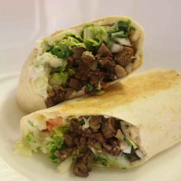 Burrito with Beef Tongue or Beef Head